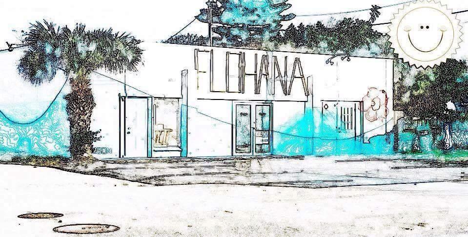 Flohana Cocoa Beach Store front painting